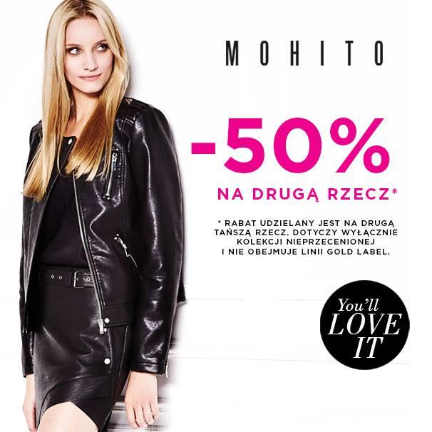 -50% na drugi produkt @ Mohito