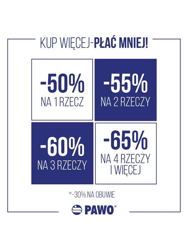 Rabaty od 50% do 65% na odzież oraz -30% na obuwie @ Pawo
