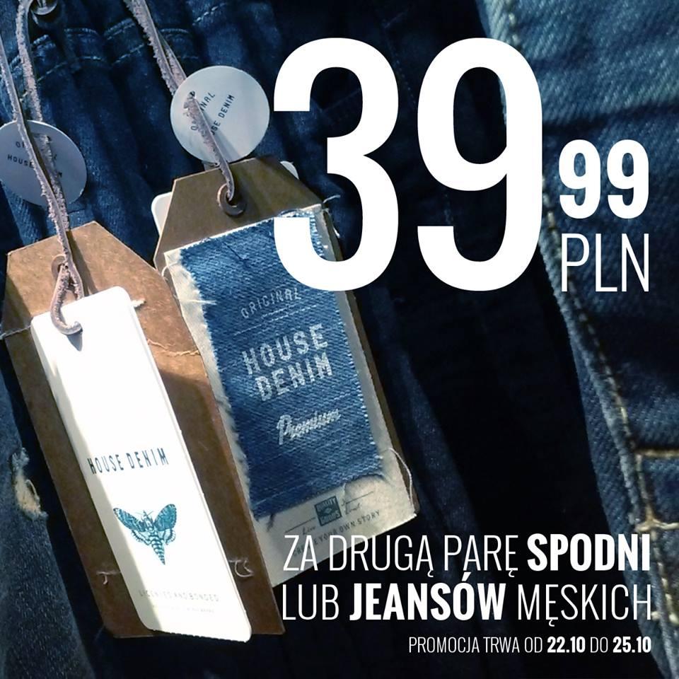 Druga para męskich spodni/jeansów za 39,99zł @ House