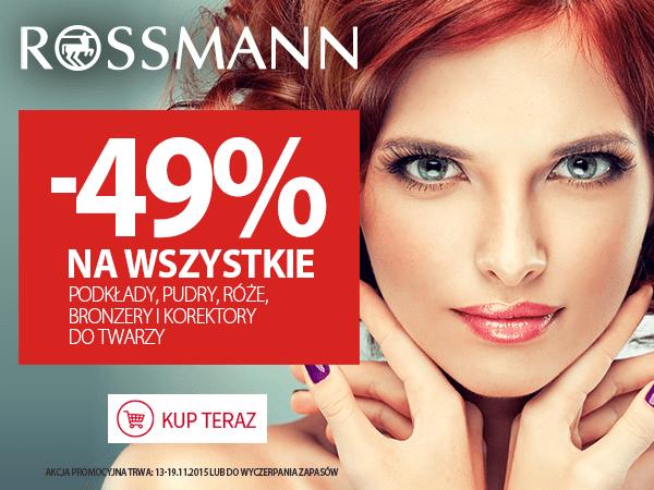 49% taniej na pudry itp. @Rossmann