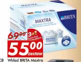 Wkłady filtrujące Brita Maxtra 3 +1 w cenie 55zł za zestaw @ Auchan