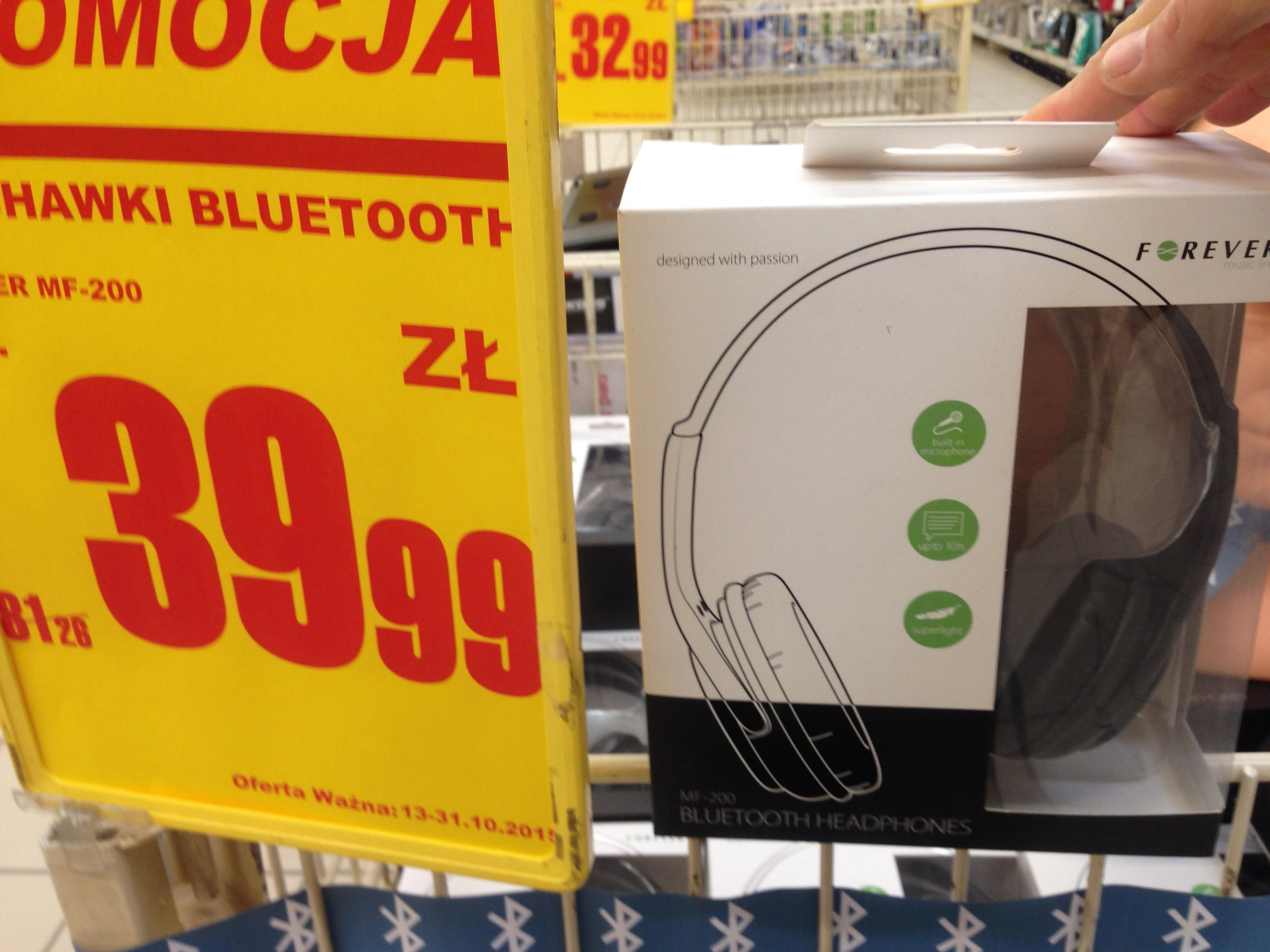 Słuchawki bezprzewodowe z mikrofonem Bluetooth MF-200 Forever - Auchan