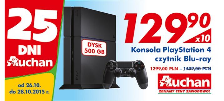 PS4 w Auchan za 1299zł