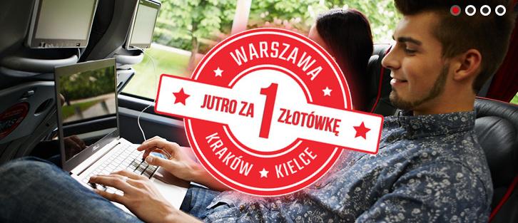 Bilety do Krakowa i Kielc za złotówkę @ Lux Express