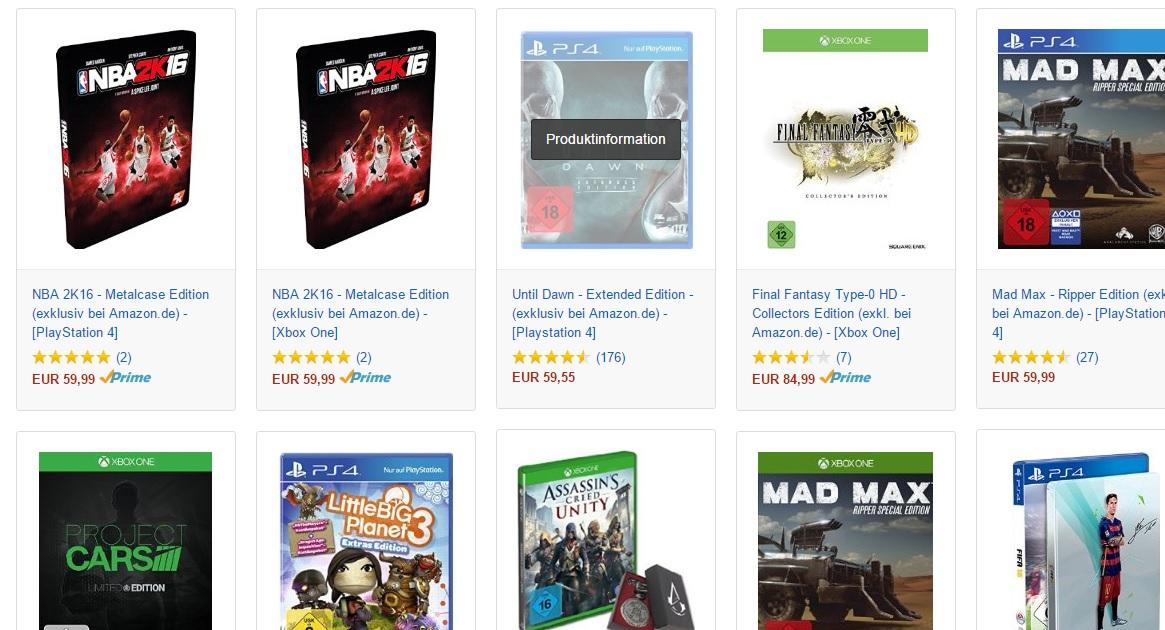 3 gry cenie 2 (PS4 i XONE) @ Amazon.de