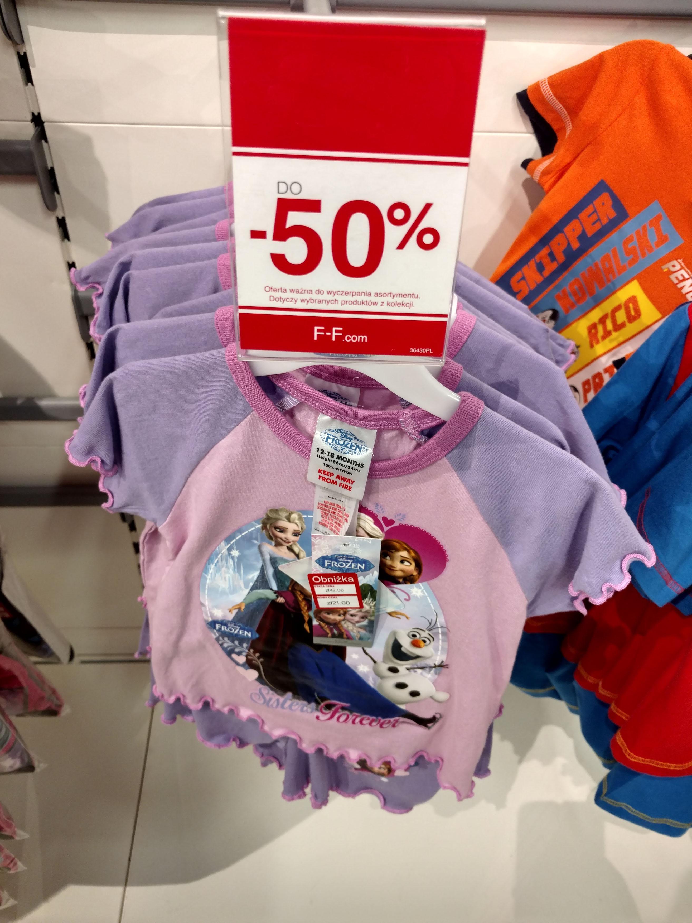 Piżama dziecięca od 21zł (-50%) - Avengers, Frozen, Mickey Mouse @ Tesco