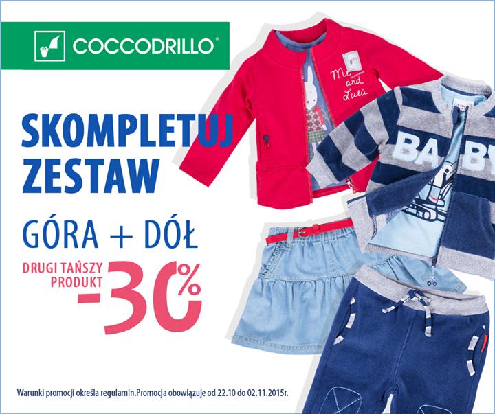 -30% na drugi produkt @ Coccodrillo