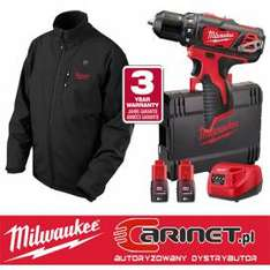 Wkrętarka Milwaukee 12V M12BDD + Akumulatorowa kurtka podgrzewana M12HJ