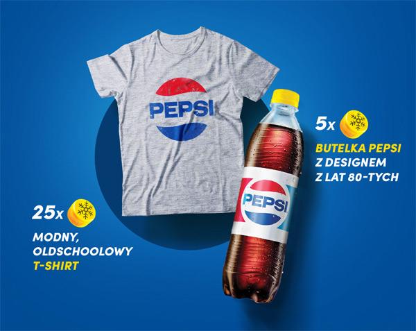 Koszulka z logo PEPSI za zakrętki