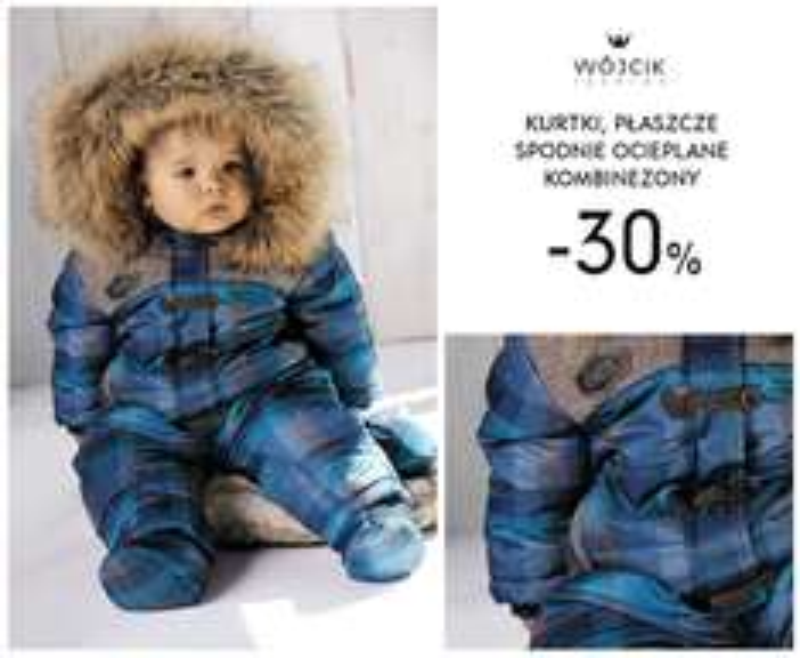-30% na wszystkie kurtki, płaszcze, kombinezony i ocieplane spodnie @ Wójcik
