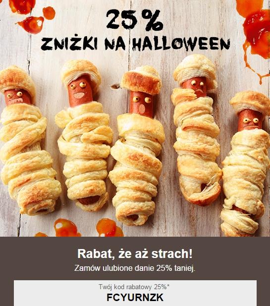 25% zniżki na zamówienia przez Pyszne.pl