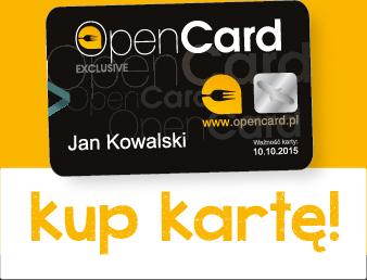 Karta Open Card za pół ceny. Promocja do 05.11