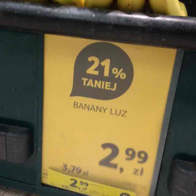Banany Tesko 2,99zl