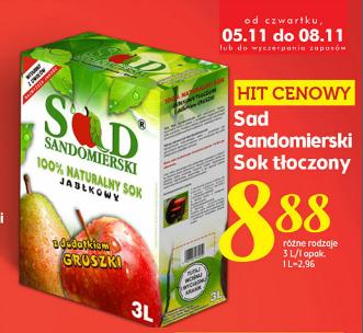 Sad Sandomierski Sok NFC 3L, różne rodzaje @Lidl