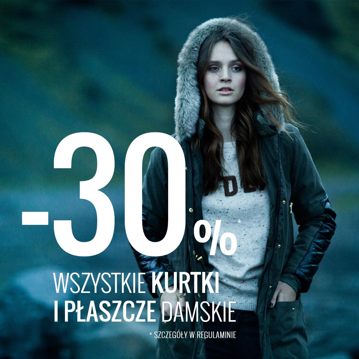 Kurtki i płaszcze damskie 30% taniej @ House