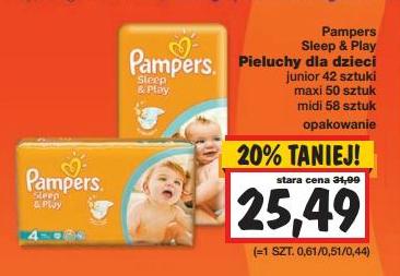 Pieluchy Pampers Sleep&Play w cenie 25,49zł @ Kaufland