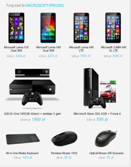 Promocja w @X-Kom na produkty Microsoft