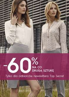 -60% na co drugą sztukę @ Top Secret