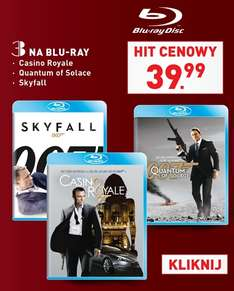 [Blu-Ray] 007: Casino Royale/Quantum of Solace/Skyfall po 39,99zł @ Lidl