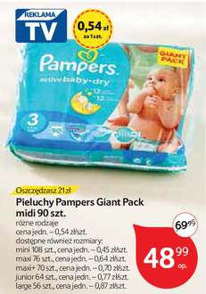 Pieluchy Pampers Giant Pack od 10.11 @ Tesco