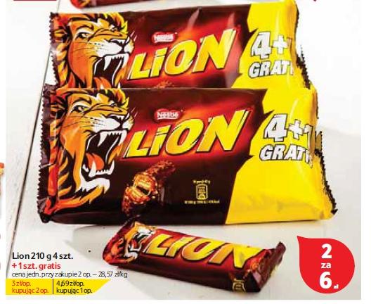 10 batonów Lion za 6 złotych (60 groszy za sztukę) @ Tesco