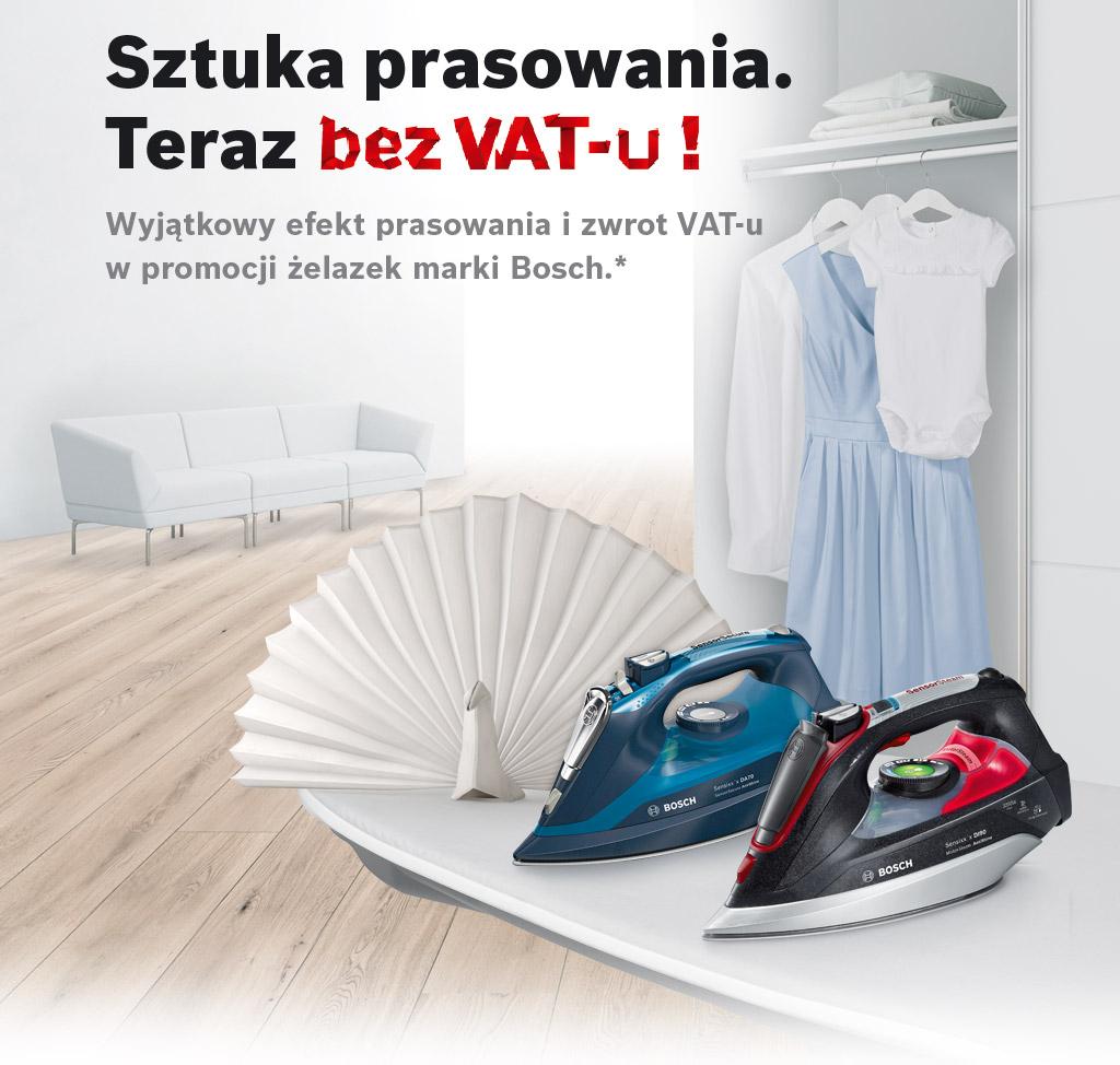 [CASHBACK] BOSCH za zakup żelazka lub stacji parowej zwrot 23 % VAT!