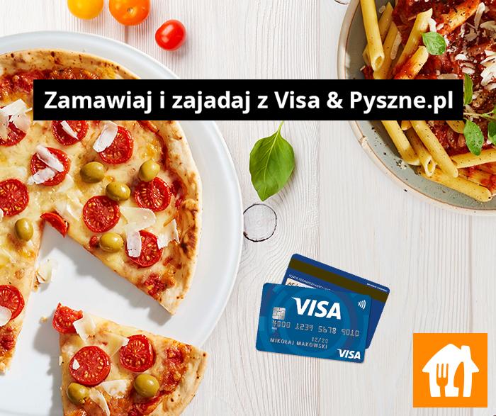 Pyszne.pl - zamów za 30 zł, zapłać Visą i otrzymasz kupon na 25zł