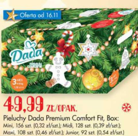 Pieluchy Dada Premium Mega Paka za 49,99zł (limitowana edycja świąteczna)@ Biedronka