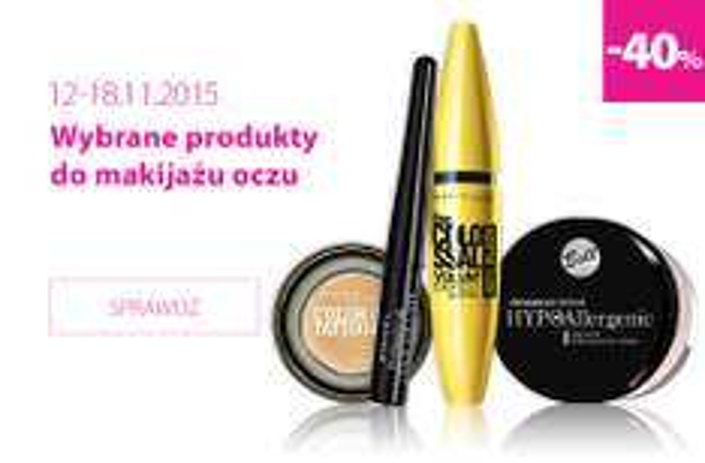 -40% na wybrane produkty do makijażu oczu @ Hebe