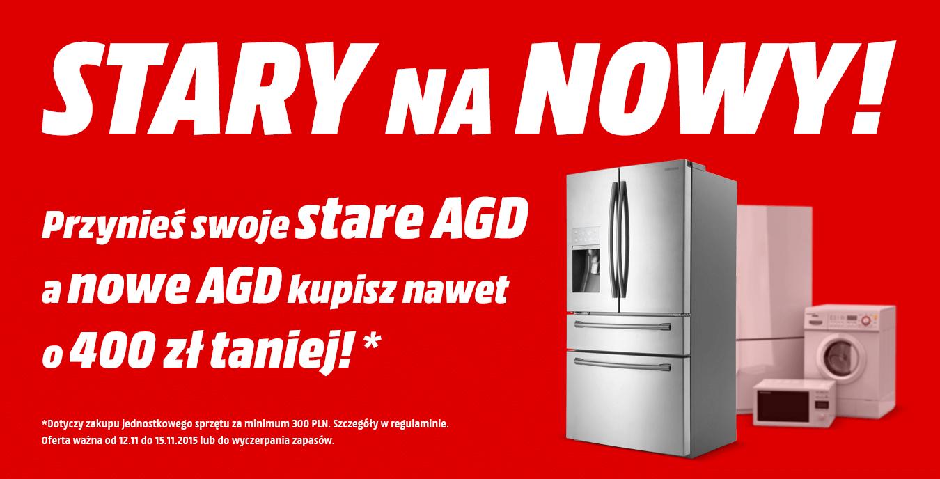 Rabat do 400zł na zakup sprzętu AGD - przy oddaniu starego sprzętu @ Media Markt