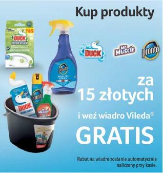 Kup za 15zł produkty marek: Duck, Mr. Muscle lub Pronto - otrzymasz wiadro VILEDA  GRATIS! @ Tesco