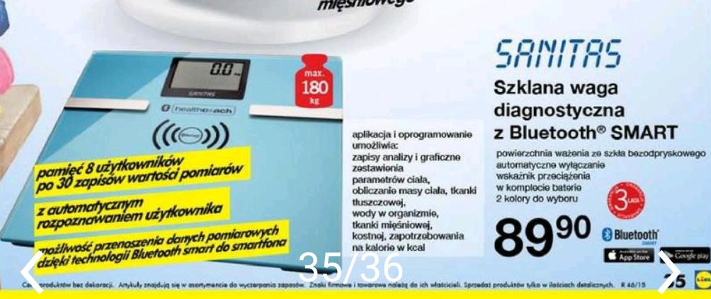 Waga bluetooth w Lidlu w atrakcyjnej cenie (w UK £100)