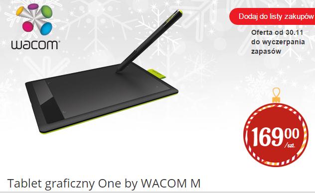Tablet graficzny One by Wacom M za 169zł @ Biedronka