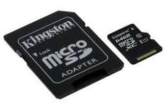 Karta MicroSD Kingston 64GB Class 10 + Adapter najtaniej
