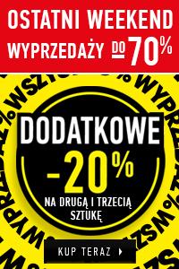 Wyprzedaż do 70% i dodatkowe 20% na 2 i 3 rzecz w koszyku @ Wólczanka