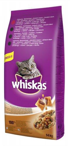 Whiskas z wołowiną - 14 kg