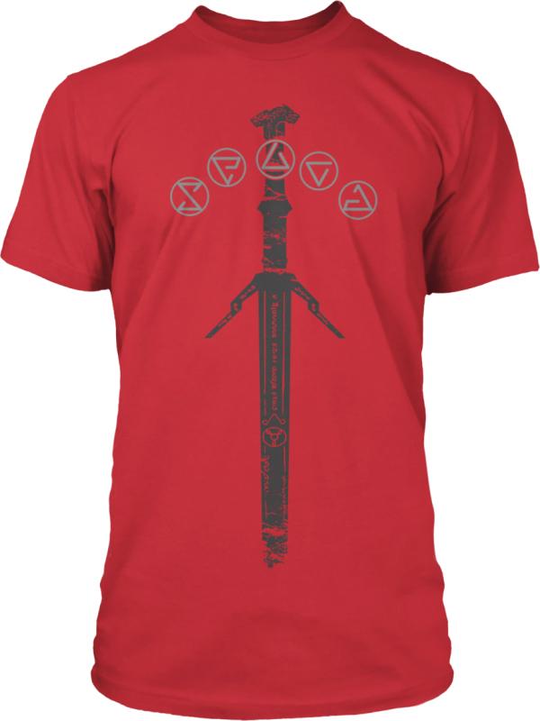 Koszulka Wiedźmin: srebrny miecz (czerwona) za 31,49zł + darmowa dostawa @ cdp.pl