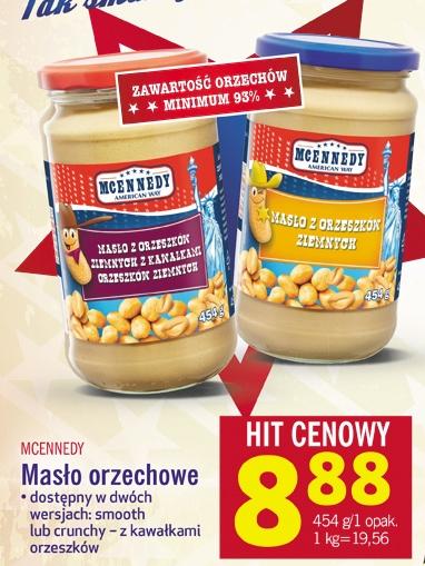 Masło orzechowe 454g za 8,88zł (min. 93% orzeszków!) @ Lidl