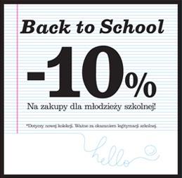 10% rabatu na zakupy dla młodzieży szkolnej @ New Look