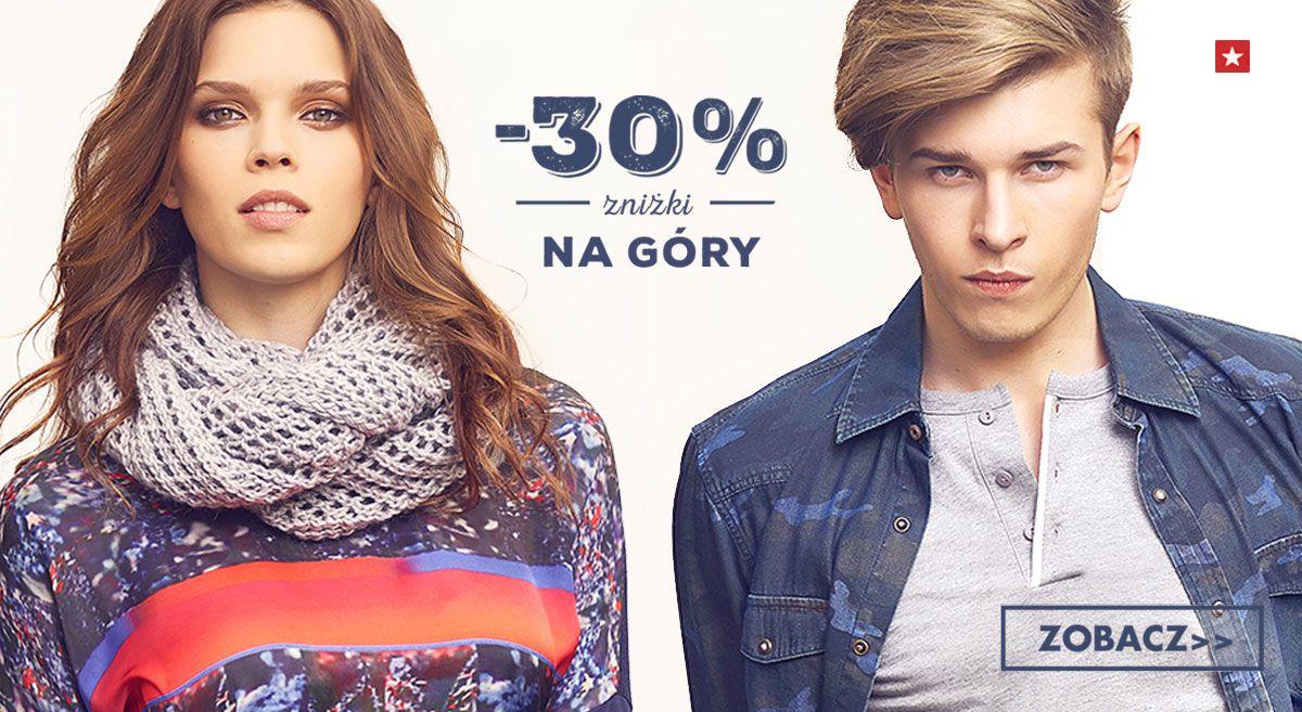 -30% na górne części garderoby @ Big Star