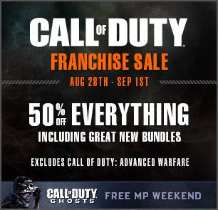 DARMOWY weekend z Call of Duty: Ghosts oraz promocja na tytuły z tej serii @ Steam