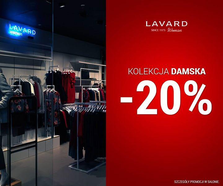 20% zniżki na kolekcję damską @ Lavard