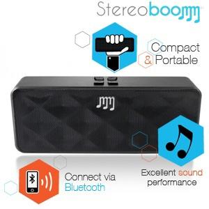 [iBood] Kompaktowy, bezprzewodowy głośnik Stereoboomm 500za 149,90