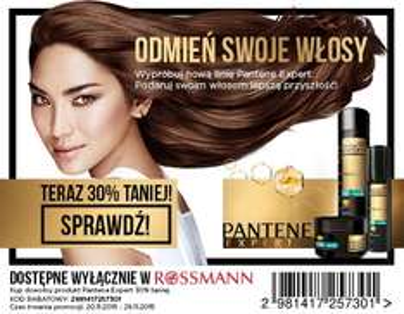 Wypróbuj NOWOŚĆ Pantene Expert 30% taniej @ Rossmann