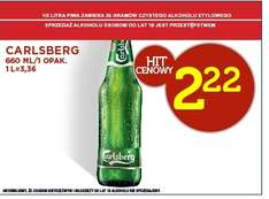 Carlsberg(0,66) za 2,22zł @Lidl