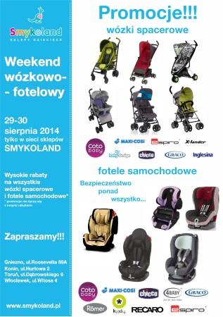 Weekendowa promocja na wózki i fotele samochodowe @ Smykoland