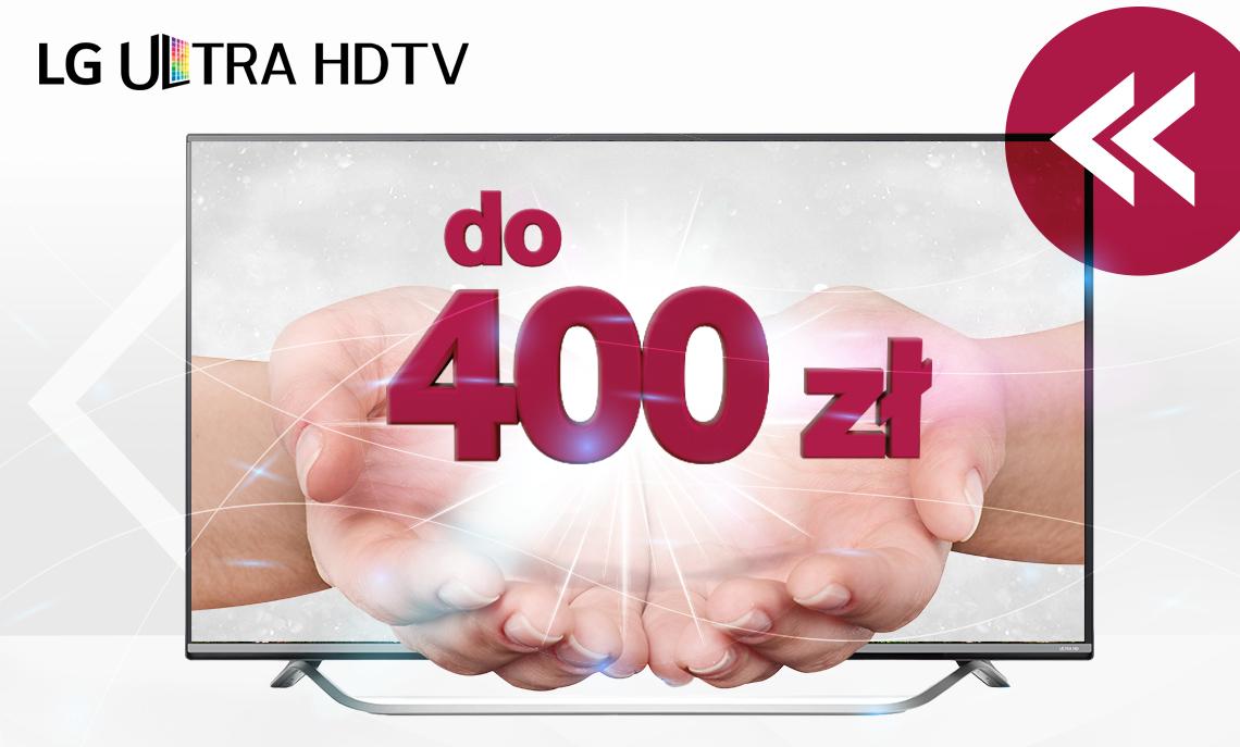 [Cashback] 200 lub 400 zł na konto za zakup telewizora @ LG