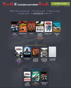 Humble Codemasters Bundle (Grid 2/Autosport, DiRT, Operation Flashpoint, Overlord I&II) od 4,10zł! @ Humble Bundle
