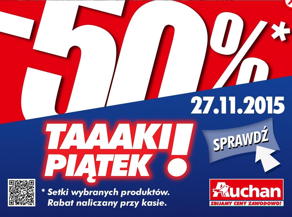 -50% na zakupy w piątek w Auchan (lista ofert)