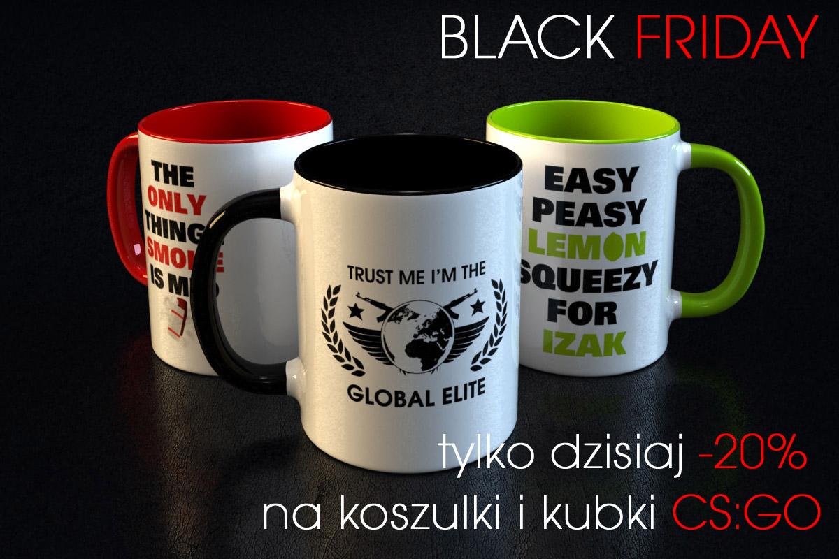 BLACK FRIDAY Koszulki i kubki dla graczy - 20%